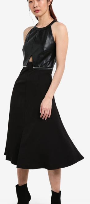 5. https://www.zalora.sg/something-borrowed-patent-leather-halter-midi-dress-black-784820.html