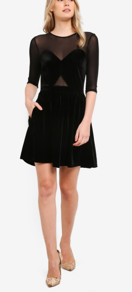 https://www.zalora.sg/something-borrowed-sheer-panel-waisted-dress-black-750068.html